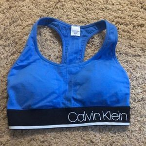 calvin klein sports bra WITH PADDING